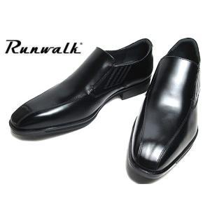 アシックス ランウォーク asics RUNWALK MB075D 3E 1231A075 スリッポン ビジネスシューズ ブラック メンズ 靴|nws