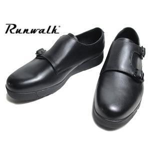 アシックス ランウォーク asics RUNWALK MB079D G-TX 2E ブラック ダブルモンクストラップ ビジネスシューズ メンズ 靴|nws