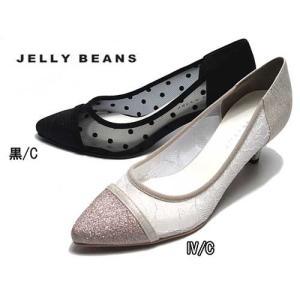 ジェリービーンズ JELLY BEANS チュールコンビパンプス レディース 靴|nws