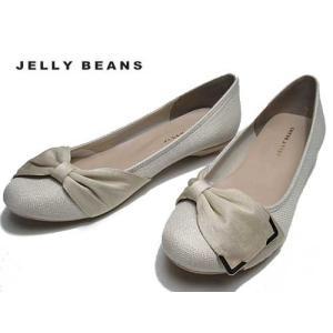 ジェリービーンズ JELLY BEANS 金具サイドリボンバレエパンプス レディース 靴|nws