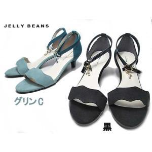 ジェリービーンズ JELLY BEANS フラワーカットキトゥンヒールサンダル レディース 靴|nws