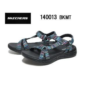スケッチャーズ SKECHERS ON THE GO 600 - ELECTRIC 140013 ブラックマルチ サンダル 靴 nws
