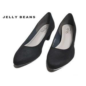 ジェリービーンズ JELLY BEANS プレーンパンプス 黒S レディース 靴|nws