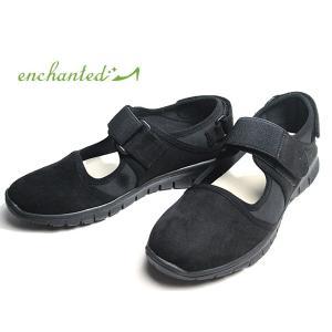 エンチャンテッド enchanted ストラップスニーカー ブラックブラック レディース 靴 nws