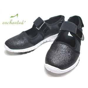 エンチャンテッド enchanted ホワイトソールストラップスニーカー ブラックM レディース・靴|nws