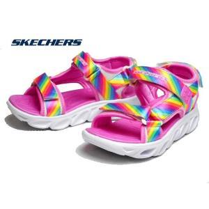スケッチャーズ SKECHERS 20218L S Lights Hypno Splash Rainbow Lights マルチ ガールズサンダル キッズ 靴|nws