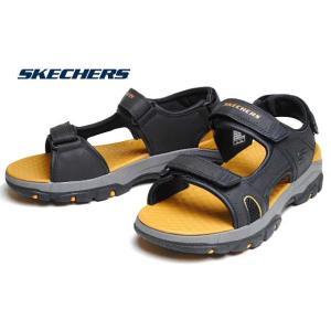 スケッチャーズ SKECHERS 204106 TRESMEN HIRANO ブラック スポーツサンダル メンズ 靴 nws