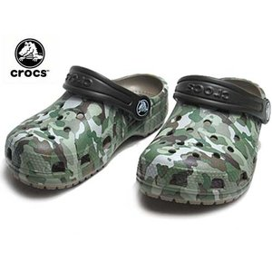 クロックス crocs クラシック グラフィック クロッグ キッズ カーキ サンダル 靴|nws