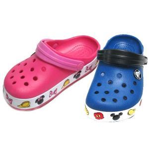 クロックス CROCS クロックバンド ミッキーマウス ミニーマウス クロッグ サンダル キッズ 靴|nws