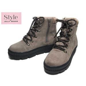 ジェリービーンズ JELLY BEANS 211-00152 ベージュスエード マウンテンブーツ レディース 靴|nws