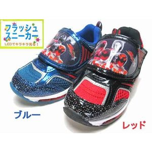 宇宙戦隊キュウレンジャー キャラクターシューズ 光る靴 フラッシュスニーカー キッズ 靴|nws
