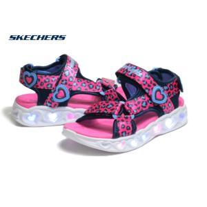 スケッチャーズ SKECHERS S LIGHTS HEART LIGHTS SAVVY CAT 302090L ホットピンクブルー サンダル 靴|nws