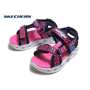 スケッチャーズ SKECHERS S LIGHTS HEART LIGHTS SAVVY CAT 302090N ホットピンクブルー サンダル 靴|nws