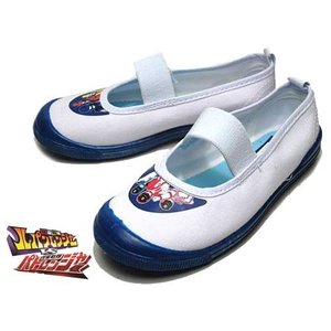 ルパンレンジャーvsパトレンジャー ルパパト バレーシューズ 上履き ホワイト/ブルー キッズ 靴|nws