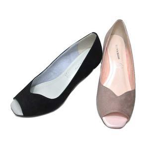 モード カオリ MODE KAORI ウェッジヒール オープントゥパンプス レディース 靴|nws