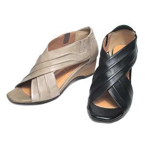 モード カオリ MODE KAORI クロスベルトウェッジソールサンダル レディース 靴|nws