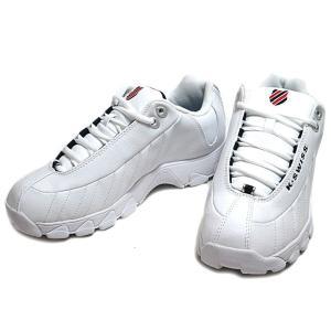 ケースイス K・SWISS ST329 CMF テニストレーニングシューズ  ホワイトネイビーレッド メンズ 靴|nws