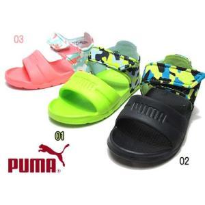 プーマ PUMA ワイルド サンダル インジェックス カモ PS スポーツサンダル キッズ 靴...
