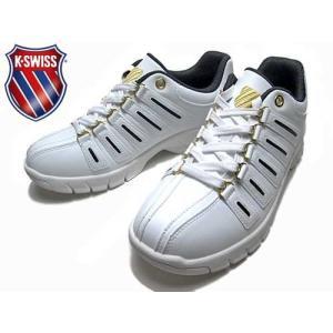 ケースイス K・SWISS KSL 02 KSL 02 ミッドカットモデル スニーカー ホワイトダークブラウンゴールド メンズ レディース 靴|nws