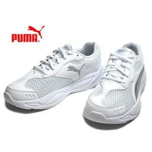 プーマ PUMA 372926 90S ランナー メッシュ JR ホワイトシルバーグレーバイオレット スニーカー キッズ 靴 nws