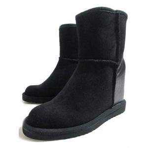Pipicaca ピピカカ インヒールムートンブーツ ブラックスエード レディース・靴|nws