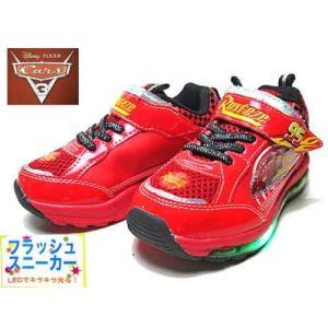 ディズニー カーズ Disney Cars ライトニングマックイーン ライトフラッシュスニーカー レッド キッズ 靴|nws