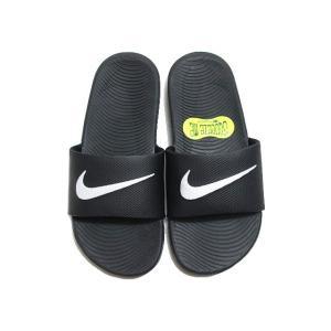 ナイキ NIKE 819352 ナイキ カワ スライドサンダル ブラックホワイト キッズ 靴|nws