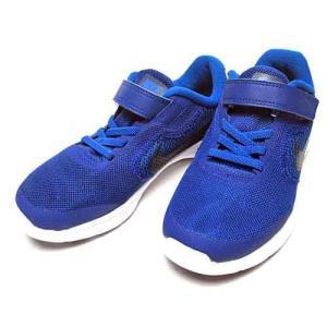 ナイキ NIKE レボリューション 3 PSV スニーカー ディープロイヤルブルー キッズ 靴|nws