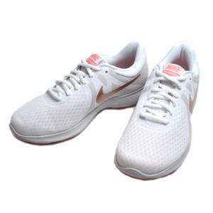 ナイキ NIKE ウィメンズ レボリューション 4 ホワイトメタリックレッドブロンズ ランニングスタイル レディース 靴|nws