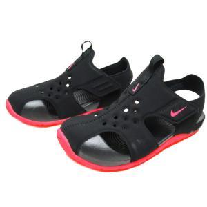 NIKE ナイキ サンレイ プロテクト2 リトルキッズサンダル ブラック/レーサーピンク 靴|nws
