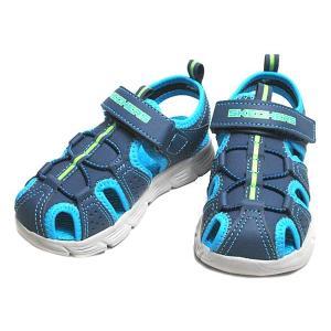 スケッチャーズ SKECHERS C-FLEX SANDAL ボーイズ向けスポーツサンダル ネイビーブルーキッズ 靴 nws