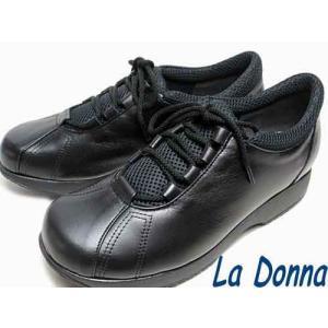ラドンナ  La Donna レースアップコンフォートシューズ ブラック レディース・靴|nws