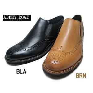 アビーロード ABBEY ROAD ウィングチップ ドレスダウンシューズ サイドエラスティックシューズ メンズ 靴 nws