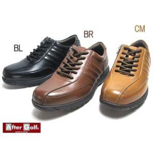アフターゴルフ AFTER Golf シューレースファスナー付き カジュアルシューズ メンズ 靴|nws