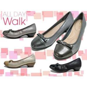 ALL DAY Walk オールデイウォーク パンプスなのに歩きやすい リボン付き パンプス×スニーカー レディース 靴|nws