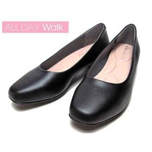 オールデイウォーク ALL DAY Walk パンプスなのに歩きやすい スクエアトゥ パンプス×スニーカー ブラック レディース 靴 nws