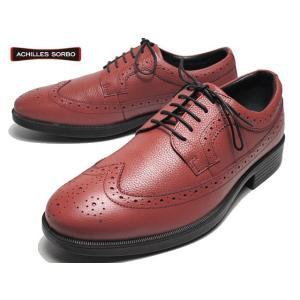 アキレス ソルボC ACHILLES SORBO 443 ワイズ3E ウィングチップ レンガ ビジネスシューズ メンズ 靴|nws
