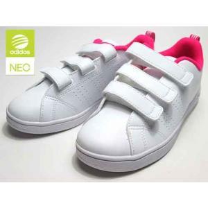 アディダス adidas バルクリーン2 CMF K コートスタイル ベルクロ スニーカー ランニングホワイトショックピンク キッズ 靴 nws