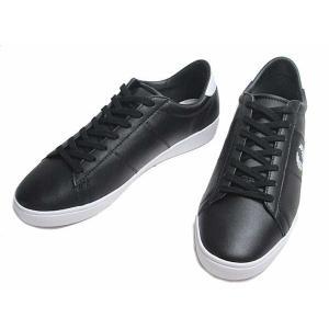 フレッドペリー FRED PERRY SPENCER LEATHER ブラックホワイト スニーカー メンズ 靴|nws
