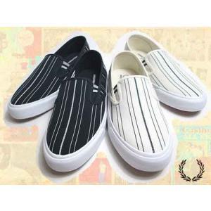 フレッドペリー FRED PERRY Turner Slip On Retro Stripe Canvas スリッポン スニーカー メンズ レディース 靴|nws