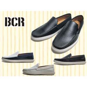 BCR ビーシーアール パンチング スリッポンシューズ メンズ 靴 nws