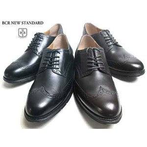 BCR ビーシーアール リアルレザー ウィングチップ レースアップシューズ メンズ 靴 nws