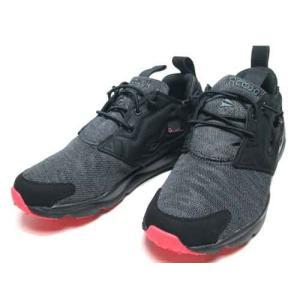 リーボック Reebok フューリーライト ソール スニーカー ブラックブラックグラベルファイアーコーラル レディース 靴|nws