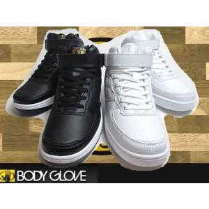 ボディグローブ BODY GLOVE ベルクロ キルティング ミッドカットスニーカー メンズ 靴|nws