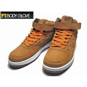 ボディグローブ BODY GLOVE ベルクロ キルティング ミッドカットスニーカー ウィート メンズ 靴|nws
