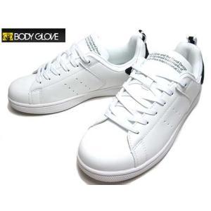 ボディグローブ BODY GLOVE コートタイプ ローカット スニーカー ホワイトブラック メンズ 靴|nws