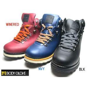ボディグローブ BODY GLOVE インサイドジップ トレッキングブーツ メンズ 靴|nws