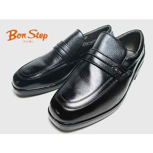 ボンステップ Bon Step コンフォートシューズ ビジネスシューズ スリッポンタイプ クロ メンズ 靴|nws
