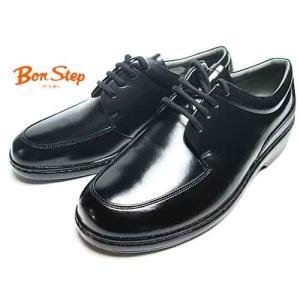 ボンステップ Bon Step コンフォートシューズ ビジネスシューズ レースアップタイプ ブラック メンズ 靴|nws