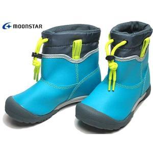 ムーンスター キャロット MS C2210 ザアザア レインブーツ ターコイズ キッズ 靴|nws